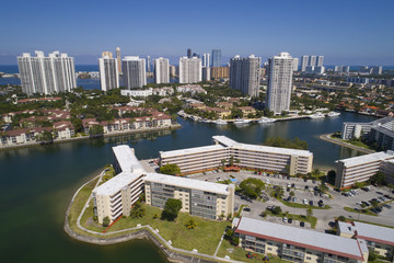 Aerial image of Aventura Florida USA