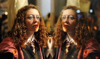 Emily Clarkson poses for photographers as she attends 'Harry Potter: A Magical Event' at the London Film Museum