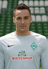 Werder Bremen's goalie Wolf is pictured during the official team photo of German Bundesliga first division soccer club Werder Bremen in Bremen