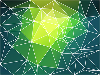 Bright yellow green geometric background with mesh.