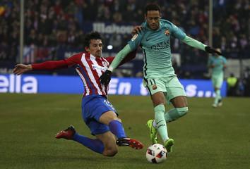 Football Soccer - Atletico Madrid v Barcelona - Spanish King's Cup Semi-final first leg