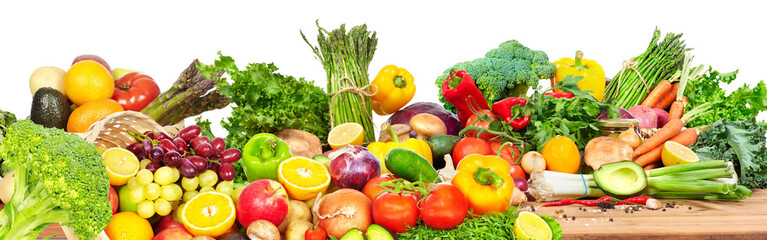 Vegetables and fruits.