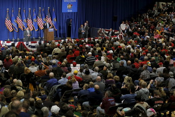 U.S. Republican presidential candidate Donald Trump speaks at a campaign rally in West Allis