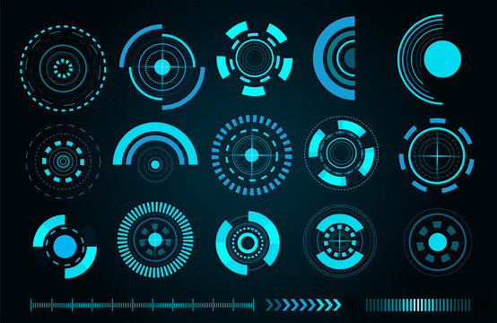 Sci fi futuristic user interface. Vector illustration