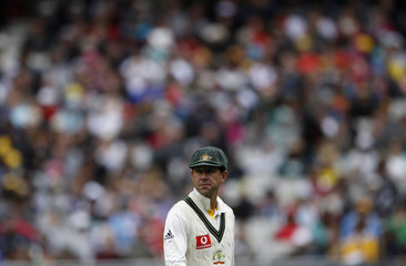 Australia's Ponting is seen on the field during the second day of the fourth Ashes cricket test at the Melbourne Cricket Ground