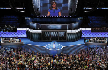 Michelle Obama speaks during the Democratic National Convention in Philadelphia