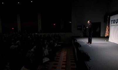 U.S. Republican presidential candidate and Texas Senator Cruz, speaks a rally at Ground Zero in Myrtle Beach