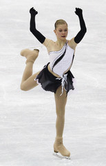 Mikonsaari of Finland performs during the women's short program at the ISU World Figure Skating Championships in Nice