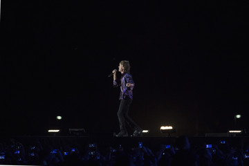 "Jagger of the Rolling Stones performs during their ""14 on Fire"" concert at Hayarkon Park  in Tel Aviv"