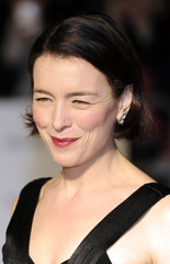 Actress Olivia Williams poses for photographers as she arrives for the London Film Critics' Circle Awards