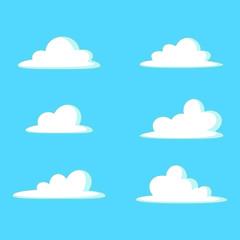 Cloud cartoon illustration set