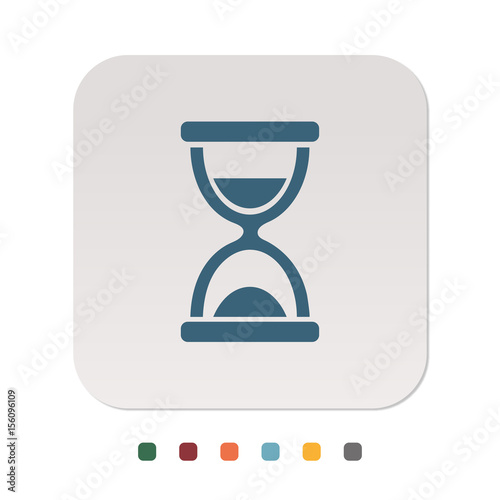 Sanduhr icon  Papier Icon - Sanduhr