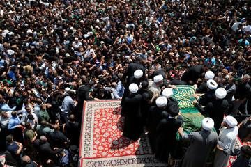 Shi'ite pilgrims gather at Imam Moussa al-Kadhim shrine to mark his death anniversary in Baghdad's Kadhimiya district