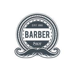 Barber shop vector vintage label