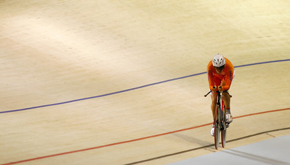 Koedooder of the Netherlands competes in the Women's Individual Pursuit qualifications at the UCI 2010 World Track Cycling Championships in Copenhagen