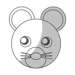 cute mouse character icon vector illustration design