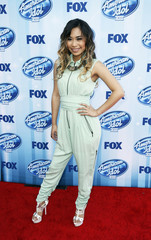 Jessica Sanchez arrives at the American Idol XIII 2014 Finale in Los Angeles