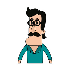 Cartoon man profile icon vector illustration graphic design