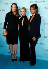 Garner, Witherspoon and  Berry pose at a reception for the re-opening of the Tiffany & Co. store in Beverly Hills