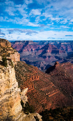 Mountain massifs of the Grand Canyon stretching into the horizon