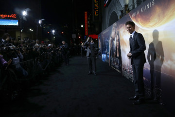 """Cast member Redmayne poses at the premiere of """"Jupiter Ascending"""" at the TCL Chinese theatre in Hollywood"""