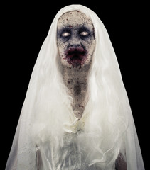 Zombie Ghost Isolated On Black Background
