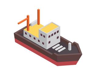 Modern Sea Transportation Illustration Asset - Small Fishing Boat