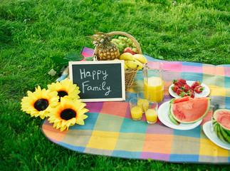 Still life of summer picninc outdoors