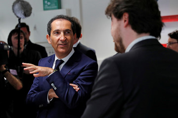 Patrick Drahi, Franco-Israeli businessman and Executive Chairman of cable and mobile telecoms company Altice, attends the inauguration of the Drahi-X Novation Center in Orsay