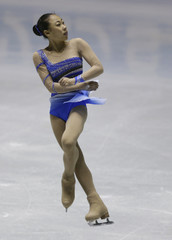 China's Zhang Kexin performs during the women's short programme at the ISU World Team Trophy in Figure Skating in Tokyo