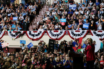 U.S. Democratic presidential nominee Hillary Clinton speaks at a campaign rally in Harrisburg
