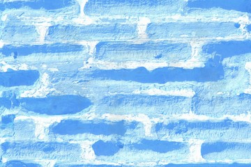 Pattern of blue bricks
