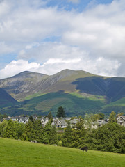 Keswick overlooked by Skiddaw in the English Lake District