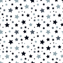 Star seamless pattern. Star background. Chaotic elements. Abstract geometric shape texture. Effect of sky. Design template for wallpaper,wrapping, textile. Vector Illustration