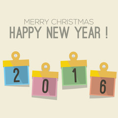 2016 New Year Vector Illustration