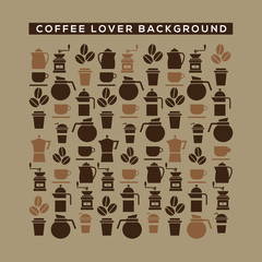 Coffee Lover Background Vector Illustration