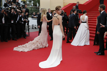 Actress Emma Watson arrives on the red carpet for the screening of the film 'Jeune & Jolie' in competition during the 66th Cannes Film Festival in Cannes