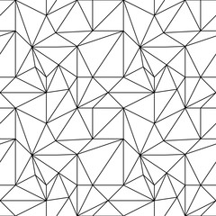 Abstract colored seamless pattern. Black and white polygonal wallpaper