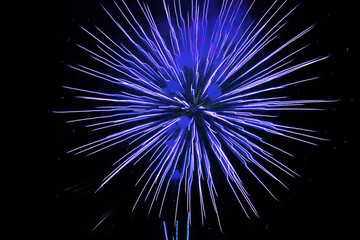 The colors and lines of the fireworks