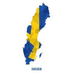 Map Of Sweden Vector Illustration
