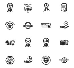 quality icon set