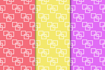 Geometric seamless pattern. Abstract background with square elements