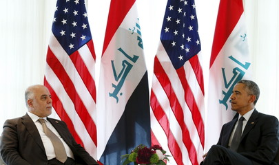 U.S. President Obama meets Iraqi Prime Minister Abadi at the G7 Summit in Germany