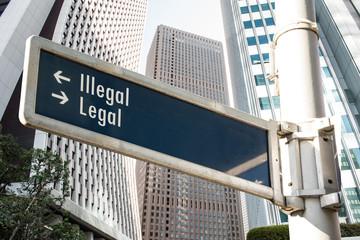 Schild 208 - Legal