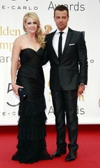 Joey Lawrence and Melissa Joan Hart arrive for the closing ceremony of the 51st Monte Carlo television festival in Monaco