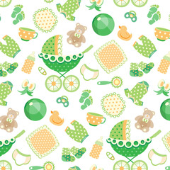 Seamless pattern with Baby