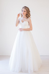 bride wedding gown white wedding love