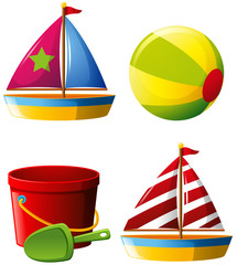 Beachball and other beach toys