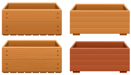 Wooden box designs with different texture of wood