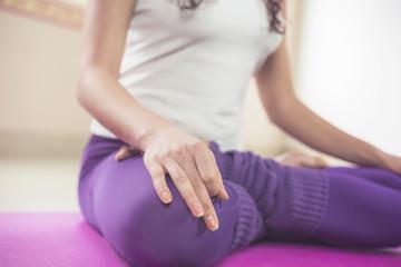 Young yoga woman